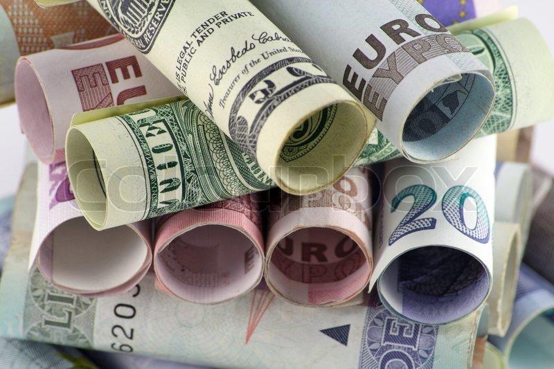 money euro dollars