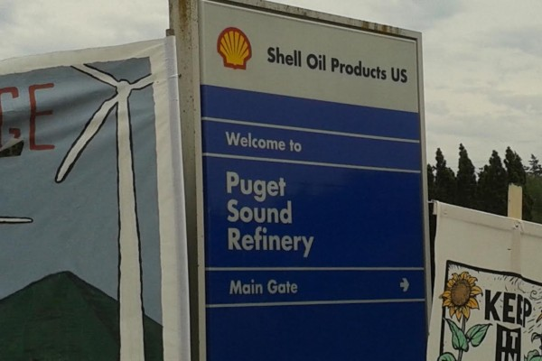 Shell Refinery Sign